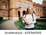 a portrait of a mixed race...   Shutterstock . vector #635564345