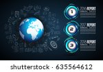 infograph template with... | Shutterstock .eps vector #635564612