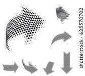 set of vector arrow icons.... | Shutterstock .eps vector #635570702