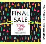 vector final sale poster. cute... | Shutterstock .eps vector #635570762