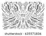 hand sketched vector vintage... | Shutterstock .eps vector #635571836