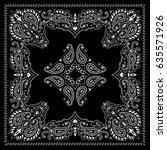 symmetrical bandana decorative... | Shutterstock .eps vector #635571926