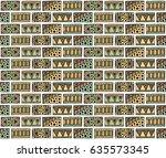 seamless vector pattern.... | Shutterstock .eps vector #635573345