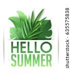 Hello Summer Poster With...