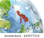 philippinesin red color on... | Shutterstock . vector #635577212