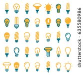 light bulbs. bulb icon set | Shutterstock .eps vector #635580986