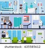 transplantation horizontal... | Shutterstock .eps vector #635585612