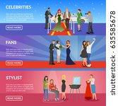 celebrity horizontal banners... | Shutterstock .eps vector #635585678