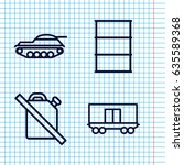 set of 4 tank outline icons... | Shutterstock .eps vector #635589368