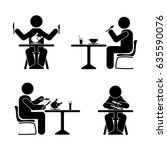 eating and drinking pictogram....