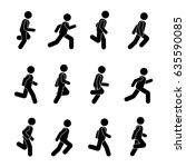 man people various running... | Shutterstock .eps vector #635590085