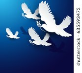 dove of peace vector background | Shutterstock .eps vector #635593472