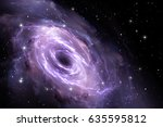 black hole in the nebula ... | Shutterstock . vector #635595812
