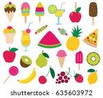 summer sweets vector set | Shutterstock .eps vector #635603972