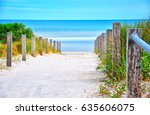 path leading down to the beach... | Shutterstock . vector #635606075