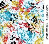 ink splashes seamless pattern.... | Shutterstock .eps vector #635619098