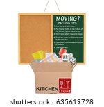 moving packing tips   use right ... | Shutterstock . vector #635619728