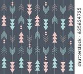 boho pattern | Shutterstock .eps vector #635624735