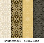 set of modern floral pattern of ... | Shutterstock .eps vector #635626355