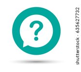 question mark sign icon. help... | Shutterstock .eps vector #635627732