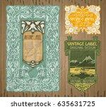 vector vintage items  label art ... | Shutterstock .eps vector #635631725