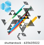 minimalistic creative concept . ... | Shutterstock .eps vector #635635022