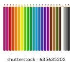 vector set of colored pencils...   Shutterstock .eps vector #635635202