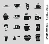coffee icons set. set of 16... | Shutterstock .eps vector #635636018