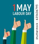 1 may labour day poster or... | Shutterstock . vector #635636795