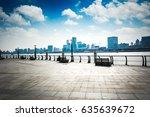 shanghai skyline in sunny day ... | Shutterstock . vector #635639672
