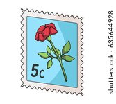 post stamp for sticking on... | Shutterstock .eps vector #635644928