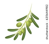 the olive branch is a symbol of ... | Shutterstock .eps vector #635644982