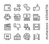 cinema line icons set. modern... | Shutterstock .eps vector #635648756
