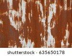 rusty metal texture | Shutterstock . vector #635650178