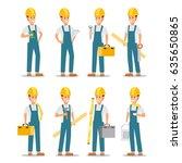 set of working professions.... | Shutterstock .eps vector #635650865