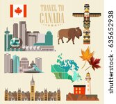 canada. canadian tradition... | Shutterstock .eps vector #635652938