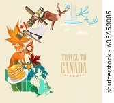 canada. canadian tradition... | Shutterstock .eps vector #635653085