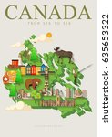 canada. canadian tradition... | Shutterstock .eps vector #635653322