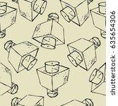 seamless vector geometry... | Shutterstock .eps vector #635654306