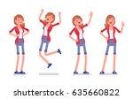 set of female millennial ... | Shutterstock .eps vector #635660822