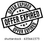 offer expired round grunge...   Shutterstock .eps vector #635661575