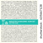 industry and building icon set... | Shutterstock .eps vector #635667128