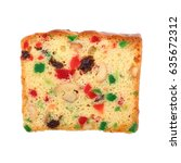 It Is Mixed Fruit Cake Isolate...