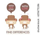 funny poster with cartoon... | Shutterstock .eps vector #635675186