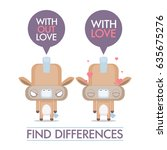 funny poster with cartoon horse ... | Shutterstock .eps vector #635675276