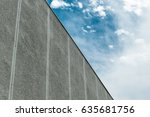 Concrete Building Wall Against...