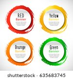 vector round banners. set of... | Shutterstock .eps vector #635683745