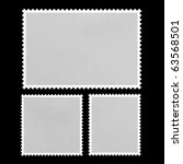 blank postage stamp framed on... | Shutterstock . vector #63568501
