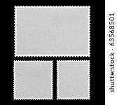 blank postage stamp framed on...   Shutterstock . vector #63568501