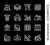 set line icons of roof | Shutterstock .eps vector #635685572